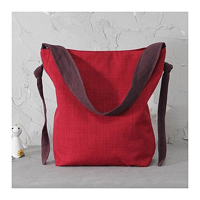 New canvas bag handbag casual shoulder bag versatile cotton and linen  ladies bag 0f06cc3612