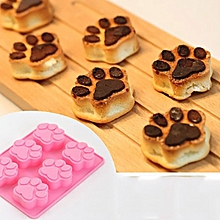 DIHE Cat Paws Multifunctional DIY Cake Chocolate Ice Cube Mould PINK