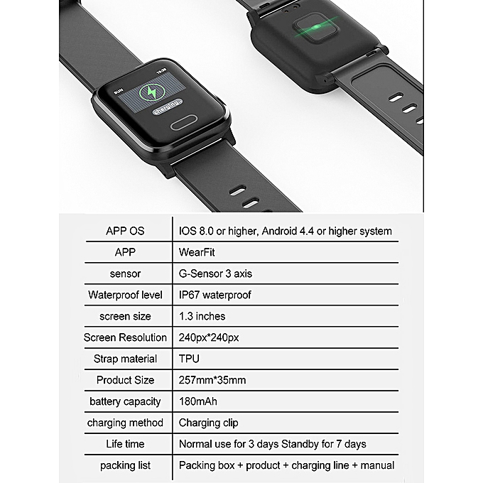 Smart Watch Sports 2D HD Curved screen Health monitoring