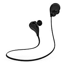 Wireless Bluetooth Sport headphone, QY7 Bluetooth 4.1 Wireless Sports In-ear Stereo Headphone with Sweatproof Earbuds - Black