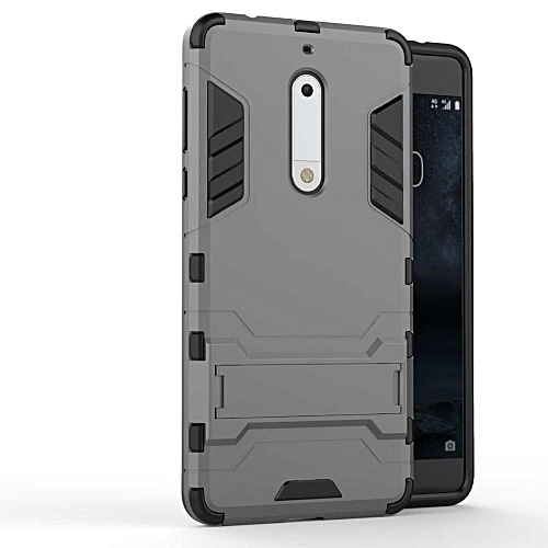 best loved e549b 049ae For Nokia 5 Case Luxury Hybrid Silicone +TPU Armor Case Cover For Nokia 5  Full Protect Phone Cases Shock Protection Back Cover Handphone Casing With  ...