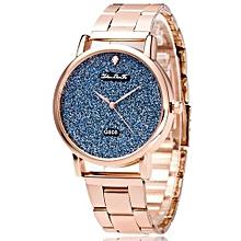 Fashion Luxury Women Quartz Stainless Steel Strip Wrist Watch Gift Rose Gold