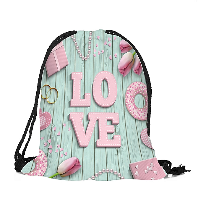6db5a5f2ce9c Valentine s Day Drawstring Bag Sack Sport Gym Travel Outdoor Backpack Bags C
