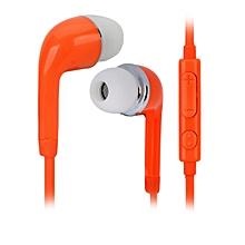 J5 3.5mm Jack In-Ear Earphone w/ Mic. for Samsung Galaxy S5 - Orange (115cm)