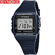9708 Sport Watch Fashion Watch LED Digital Alarm Luminous Stopwatch Timing Waterproof Sport Band