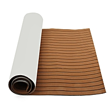 118''x36'' Brown EVA Boat Flooring Mat Teak Decking Yacht Sheet Pad Carpe UK