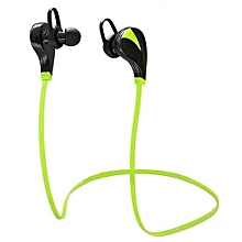 Earphone for Sport, G6 Bluetooth Wireless Headset Stereo Sports Music Handsfree Sweatproof(Green)