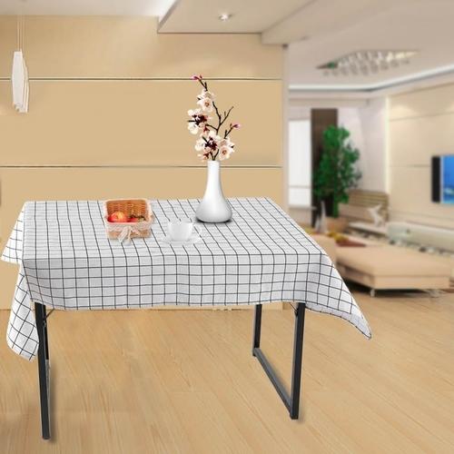 Jumia Kenya & 140 X 220cm Cotton Linen Table Cloth Dining Kitchen Table Cover Protector White Lattice