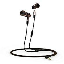 X46M Detachable HiFi Earphones With MIC(GRAY)