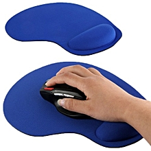 Anti-slip Comfort Mouse Pad Mat with Gel Foam Rest Wrist Support Blue