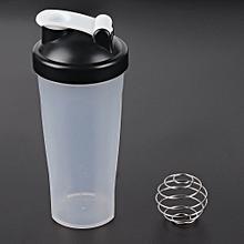 Portable Size Protein Shaker Bottle Blender Bottle Fitness Gym Shaker Bottle black