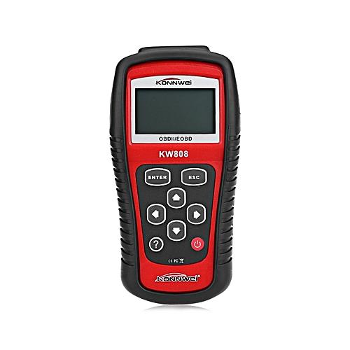 Generic Kw808 Auto Scanner Eobd Obd2 Obdii Diagnostic Tool Code