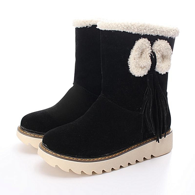 Buy Fashion Women Ladies Winter Warm Snow Boots Plus Size Slip On