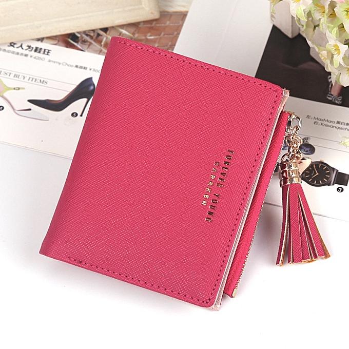 16c3d9bf106d Women Wallet lovely Short paragraph Zipper Hasp Purse Small Clutch Fashion  buckle PU Female Wallets Card Holder Coin Purse(Gray)