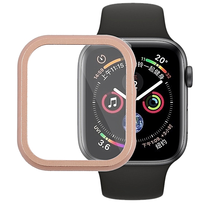 sports shoes 70ac7 65386 Metal Front Frame Protective Case for Apple Watch Series 4 40mm (Rose Gold)