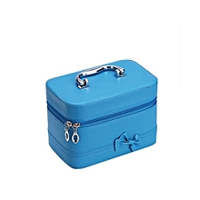 Candy Color Bowknot Cosmetic Case -Blue