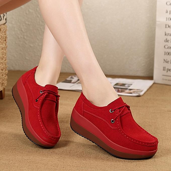 3cb15832f0fc Korean women s platform casual shoes thickened soft bottom Shake shoes.