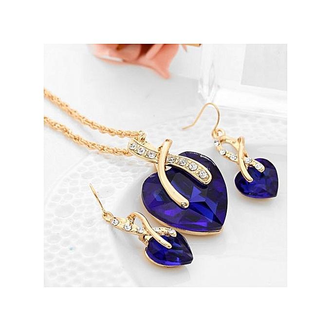 Reasonable Crystal Heart Jewelry Set Jewelry Sets Jewelry & Watches