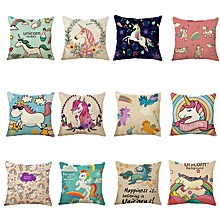 Honana 45x45cm Home Decoration Cartoon Unicorn Animal Square 12 Optional Patterns Pillow Case