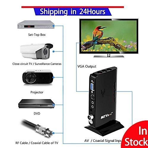 High quality TV Set Top Box PC Monitor Receiver Speaker External LCD CRT  VGA Tuner HDTV 1080P EU