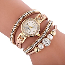 Fohting Beautiful Fashion Bracelet Watch Ladies Watch  Round Bracelet Watch -Brown