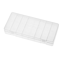 1Pc PALO Transparent AA Battery Storage Box Case High-quality Container Durable Plastic Battery Holder with Lid Holds 8 AA / AAA Batteries