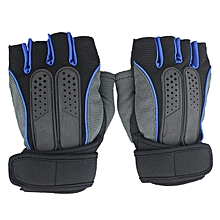 Half Finger Gloves For Fitness Dumbbel Training Riding Lengthened Wrist Lifting Exercise