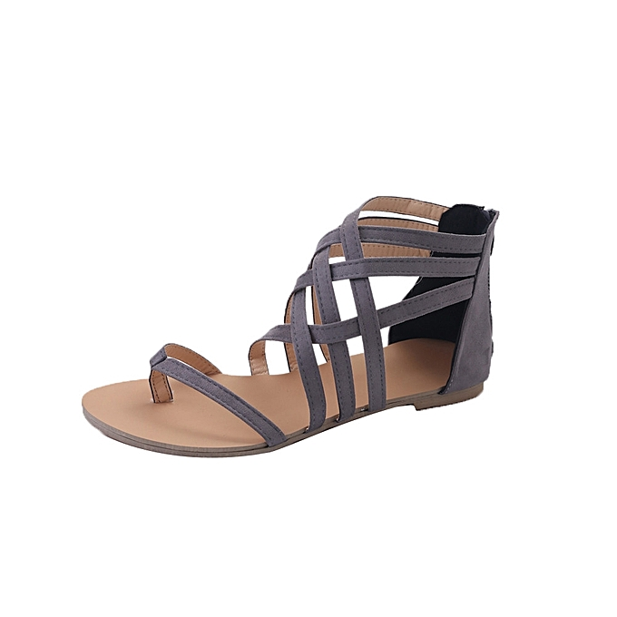 f68d303cf2a ... Tectores Women Bohemian Flat Sandals Shoes Gladiator Flops Strap Flip  Toe ShoesGift ...