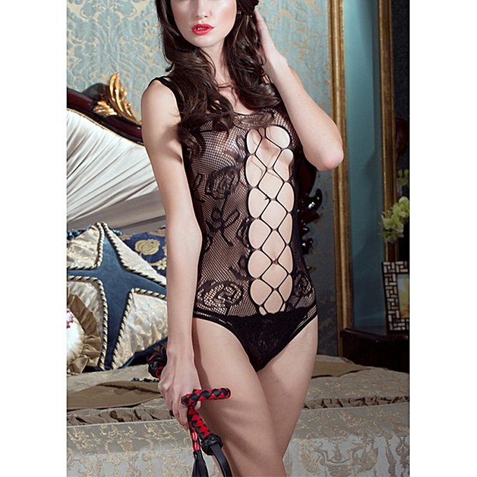 c9d475eb656 ... Women Exotic Lingerie Teddies Sheer Mesh See Through Backless Open  Crotch Hollow Out Net Sexy Bodysuit