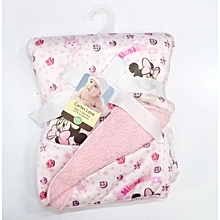 Super Soft Baby Receiving Blanket / Shawl  - Pink .