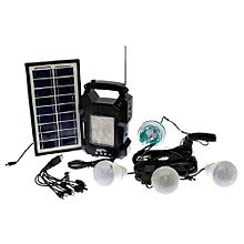 Solar Lighting Emergency Lamp - GD 8050 - Black