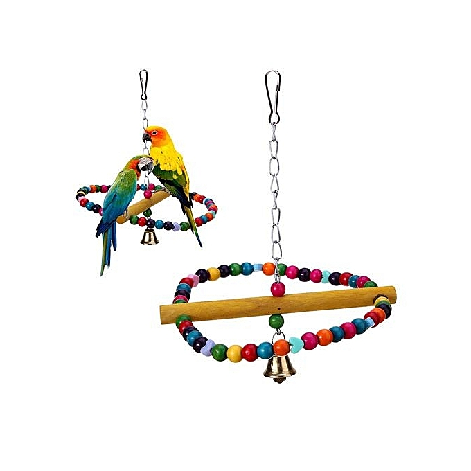 3 4 In Octagon Bird Toys : Colorful pet bird ladder toys parrot bites toy