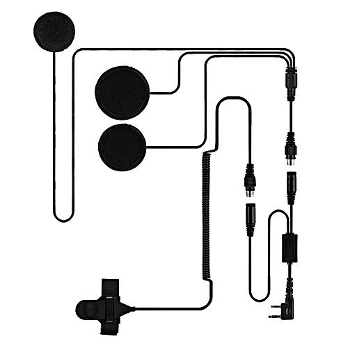 2 Pin PTT Adjustable Volume Motorcycle Helmet Headset Microphone For  BAOFENG Radio Walkie Talkie