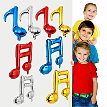 Single Music Note Foil Balloon Wedding Dance Birthday Party Wall Decor Red
