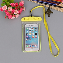 Outdoor Waterproof Pouch Swimming Beach Dry Bag Case Cover Holder for Cell Phone-Yellow