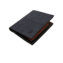 GENUINE Leather Men's Wallet Business Credit Card Money Holder Purse Bifold Gift Blue - Blue