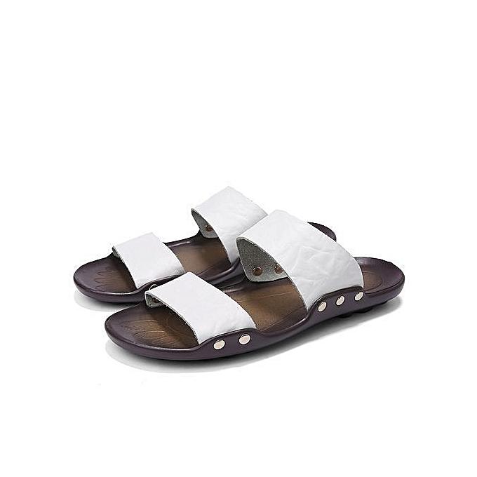 4380d29d856c ... 2018 Men s Sandals Beach Shoes Casual Soft Waterproof Non-slip Shoes