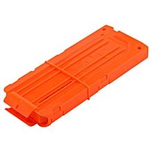 Plastic Quick Reload Clip for Soft Dart Gun Toy - Orange