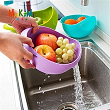 Rice and Vegetable Drainer -purple Colander