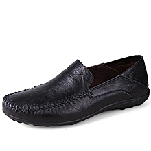 Men Formal Genuine Leather Casual shoes Loafers Black