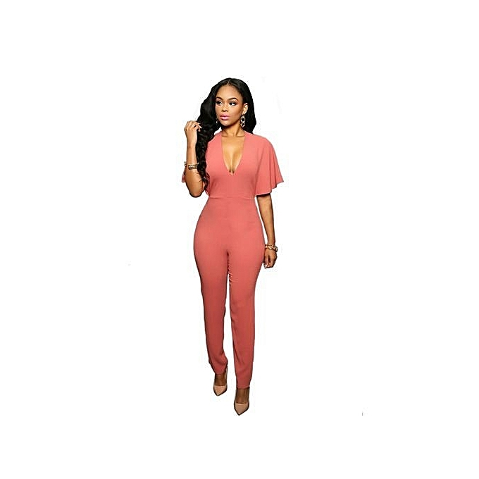 Buy Fashion Women Ruffle See Through One Piece Bodysuits Jumpsuits
