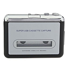 12V 10W USB Stereo Cassette Capture Cassette To MP3 Transducer Silver