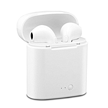 Mini Bluetooth Wireless Earbuds Earphone Headsets Double Earpiece air pods with Microphone For Earpods All Mobile Phones ()