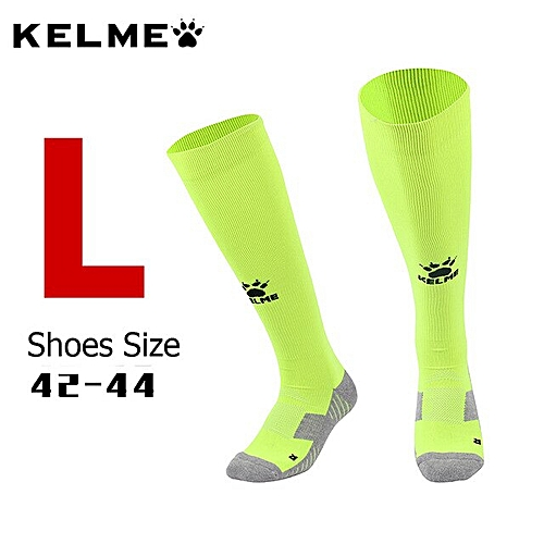 01c9510b7 Generic High tube Top quality football socks soccer socks mens kids sports  durable long adult basketball thickening socks K15Z908(Fluorescence Green L)