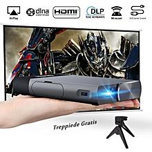 Portable Hand-held 854*480 Projector - US Plug - Dark Grey