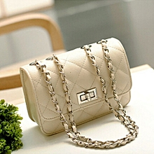 Women PU Leather Messenger Satchel Crossbody Handbags S White
