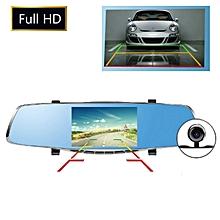 5 Inch 1080P HD Dual Lens Car DVR Dash Cam Recorder 170 Degree Rear View Camera G-sensor