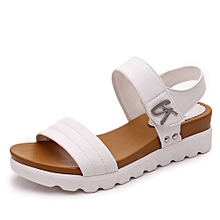 Summer Sandals Women Aged Flat Fashion Sandals Comfortable Ladies Shoes WH/35