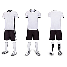 Customized Youth Children Boy's Football Soccer Team Sports Jersey Set-White(6200)