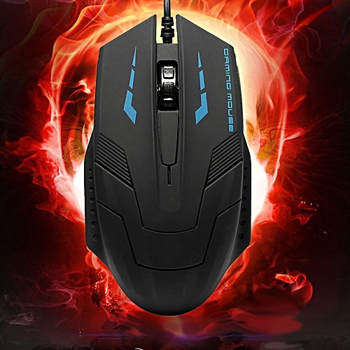 HMTOP High Quality K059 USB 2.0 Wired 3D Optical LED Gaming Mouse 2400DPI for Laptop PC